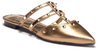 Marc Fisher Amazie Metallic Studded Pointed Toe Mule