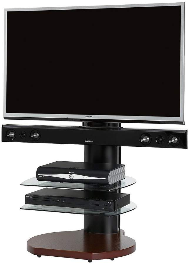 No More Wires Origin TV Stand With Soundbar Bracket - Fits Up To 65 Inch TV