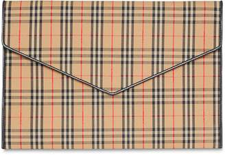 Burberry 1983 Large Checked Envelope Pouch