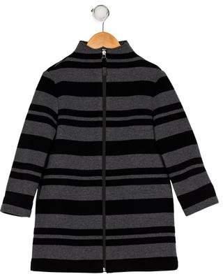 Il Gufo Girls' Stripe Coat w/ Tags