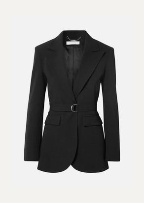 Chloé Belted Crepe Blazer - Black