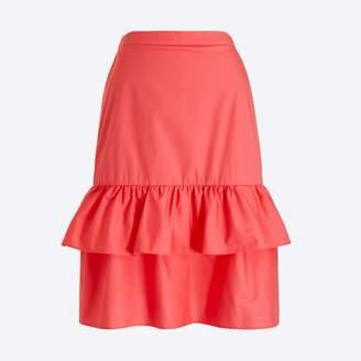 J.Crew Factory Tiered ruffle midi skirt