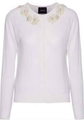 Simone Rocha Embellished Merino Wool Silk And Cashmere-Blend Cardigan