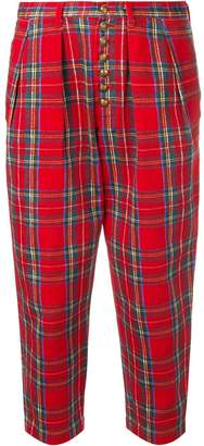 Comme des Garcons Pre-Owned tartan cropped trousers