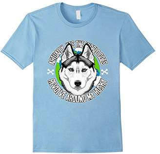 Yes The World Does Revolve Around My Husky T-Shirt
