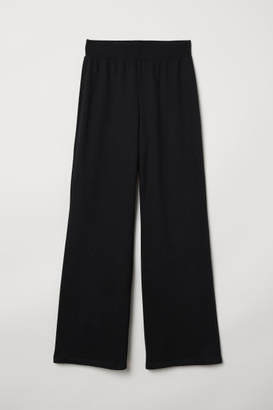 H&M Straight-cut Sweatpants - Black