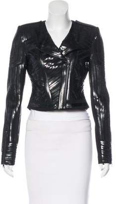 BCBGMAXAZRIA Sequined Structured Jacket
