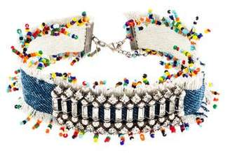 Dannijo Denim, Crystal & Rainbow Bead Choker
