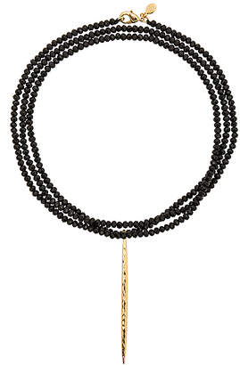 gorjana Nora Beaded Long Necklace in Metallic Gold. $85 thestylecure.com