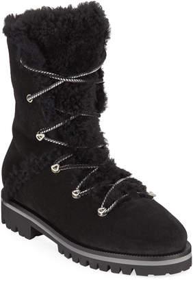 Yves Salomon Curly Mernillo Fox Tall Boots