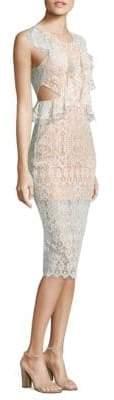 Pepa Cutout Ruffled Lace Dress