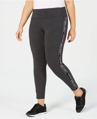 Calvin Klein Plus Size High-Waist Logo Leggings