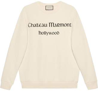 Gucci Oversize sweatshirt with Chateau Marmont