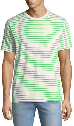 Frame Striped Pocket T-Shirt