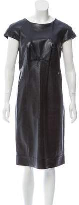 Chanel Leather Midi Dress