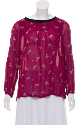 Etoile Isabel Marant Long Sleeve Printed Blouse