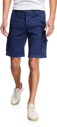 Kiton Men's Linen/Cotton Cargo Shorts