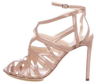 Burak Uyan Patent Leather Caged Sandals