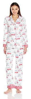 munki munki Women's Flannel Long Sleeve Classic Pj Set