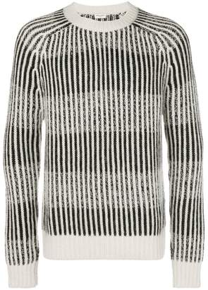 Saint Laurent striped ribbed sweater