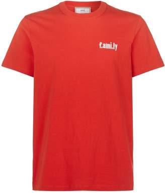 Ami Paris Family Slogan T-Shirt