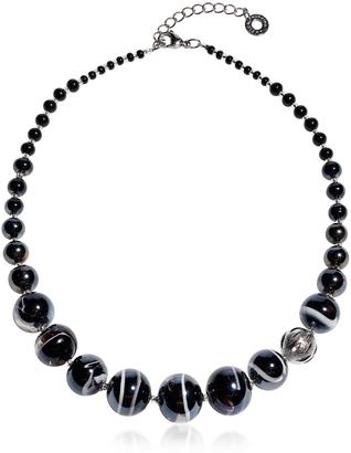 Antica Murrina Optical 2 - Black Murano Glass Choker $125 thestylecure.com