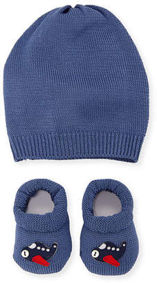story. Loris Airplane Booties & Baby Hat Set, Infant