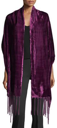 Bajra Silk Velvet Wrap w/ Tassel Ends