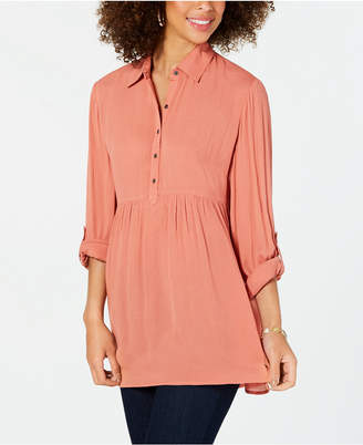 Style&Co. Style & Co Petite Babydoll Tunic Shirt
