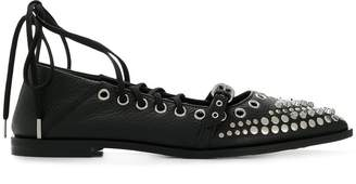 McQ studded lace-up flats