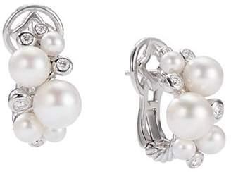David Yurman Pearl Cluster Earrings with Diamonds