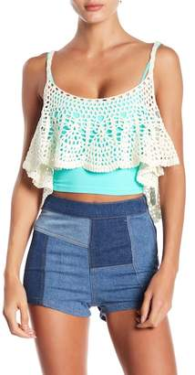 Free People Free Bird Woven Cropped Tank