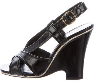 Marc JacobsMarc Jacobs Patent Leather Wedge Sandals