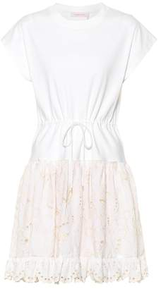 See by Chloe Cotton broderie anglaise dress