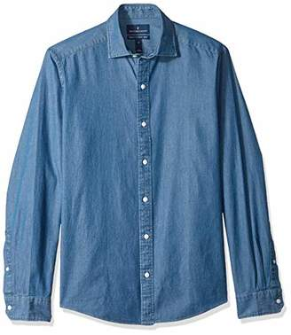 Buttoned Down Men's Tailored Fit Indigo Denim Cotton Sport Shirt