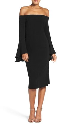 Women's Bardot 'Solange' Off The Shoulder Midi Dress $119 thestylecure.com