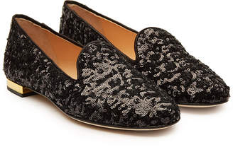 Charlotte Olympia Sequin Loafers