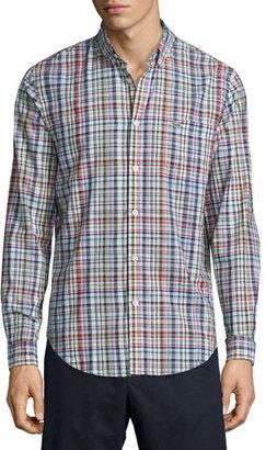 Lacoste Resort Plaid Oxford Shirt, White/Multicolor $110 thestylecure.com