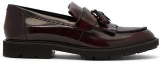 Tod's Tassel Leather Loafers - Mens - Burgundy