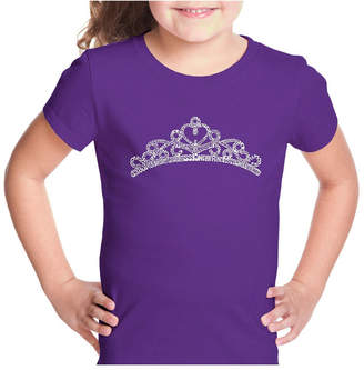 La Pop Art Girl Word Art T-Shirt - Princess Tiara