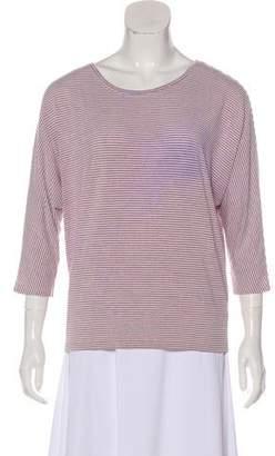 Rachel Zoe Striped Scoop Neck T-Shirt