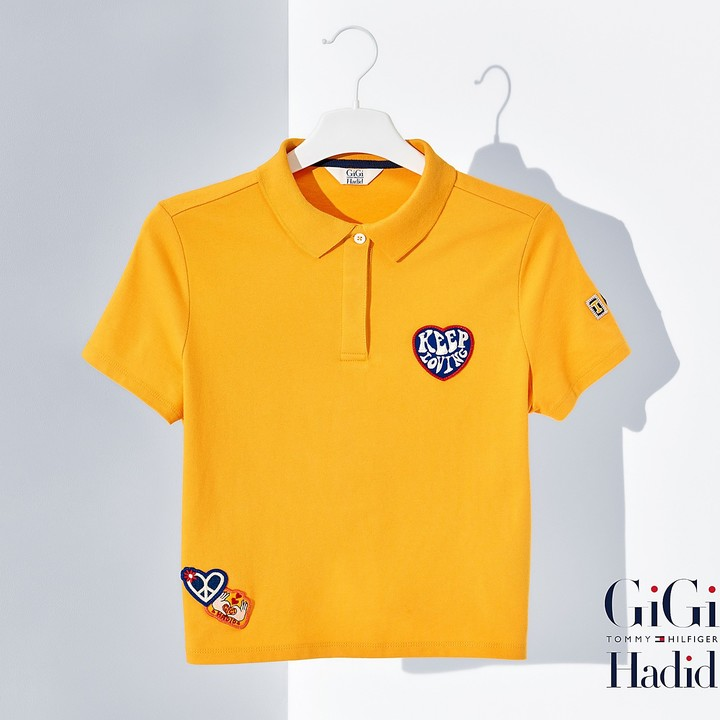 Tommy Hilfiger Cotton Pique Cropped Polo Gigi Hadid