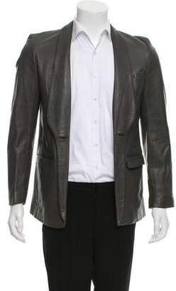 Maison Margiela Open Front Leather Jacket