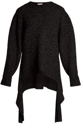 Balenciaga Extended Cuff Long Line Sweater - Womens - Black