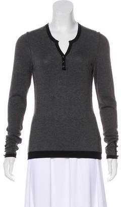 Gerard Darel Knit Long Sleeve Top