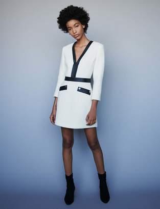 Maje Tweed-like contrast dress