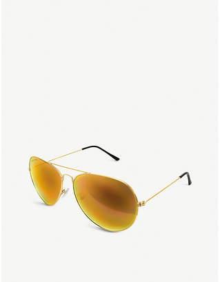 Folli Follie Ladies Gold Sg17T013Go Aviator Sunglasses