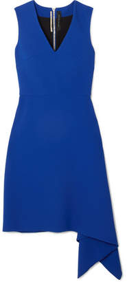 Roland Mouret Aylsham Asymmetric Crepe Mini Dress - Cobalt blue