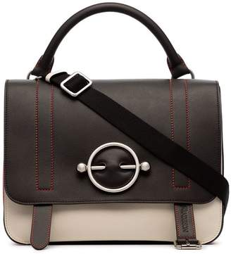 J.W.Anderson ivory and brown disc leather satchel bag