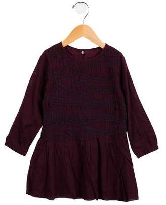 Zadig & Voltaire Girls' Embroidered Long Sleeve Dress